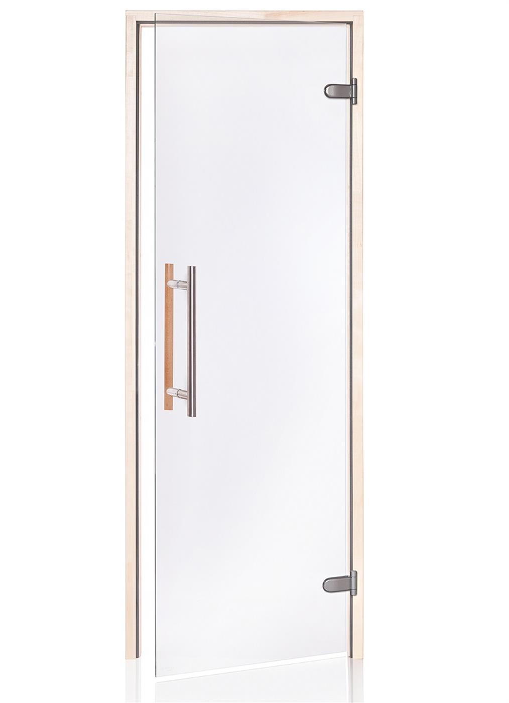 Premium badstudør i klart glass