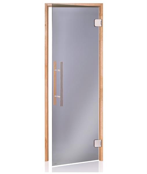 Premium badstudør i sotet glass