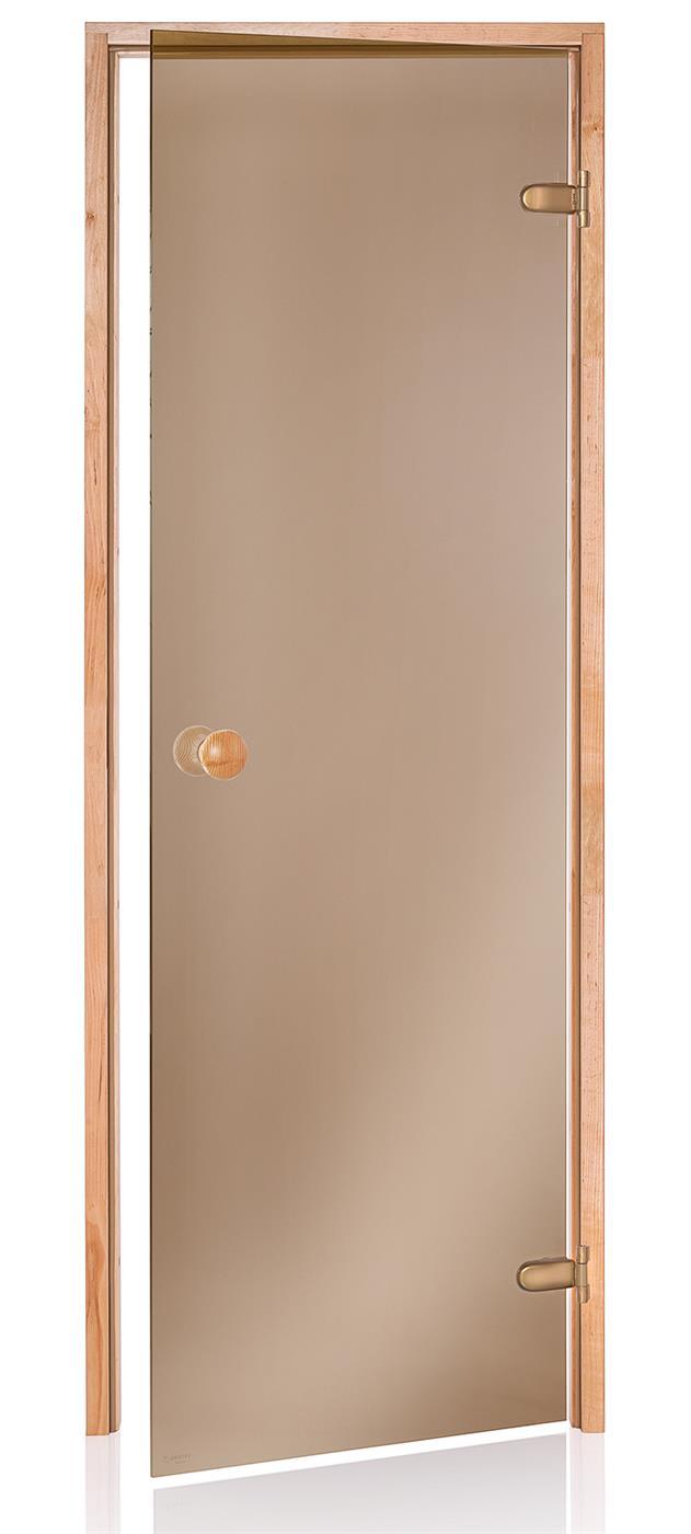 Badstudør SCAN med bronsefarget glass