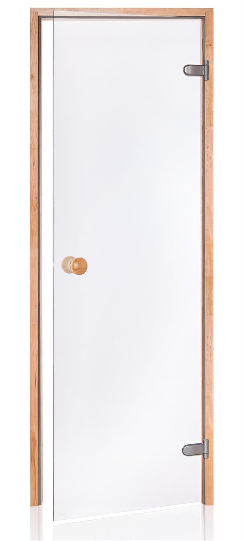 Badstudør SCAN med klart glass