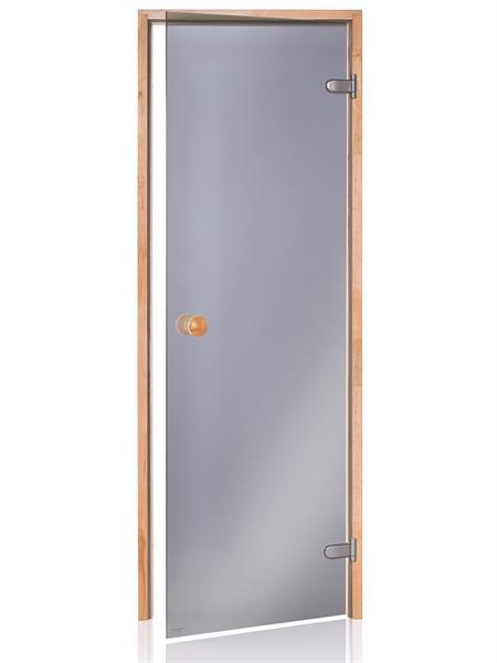 Badstudør SCAN med sortfarget glass