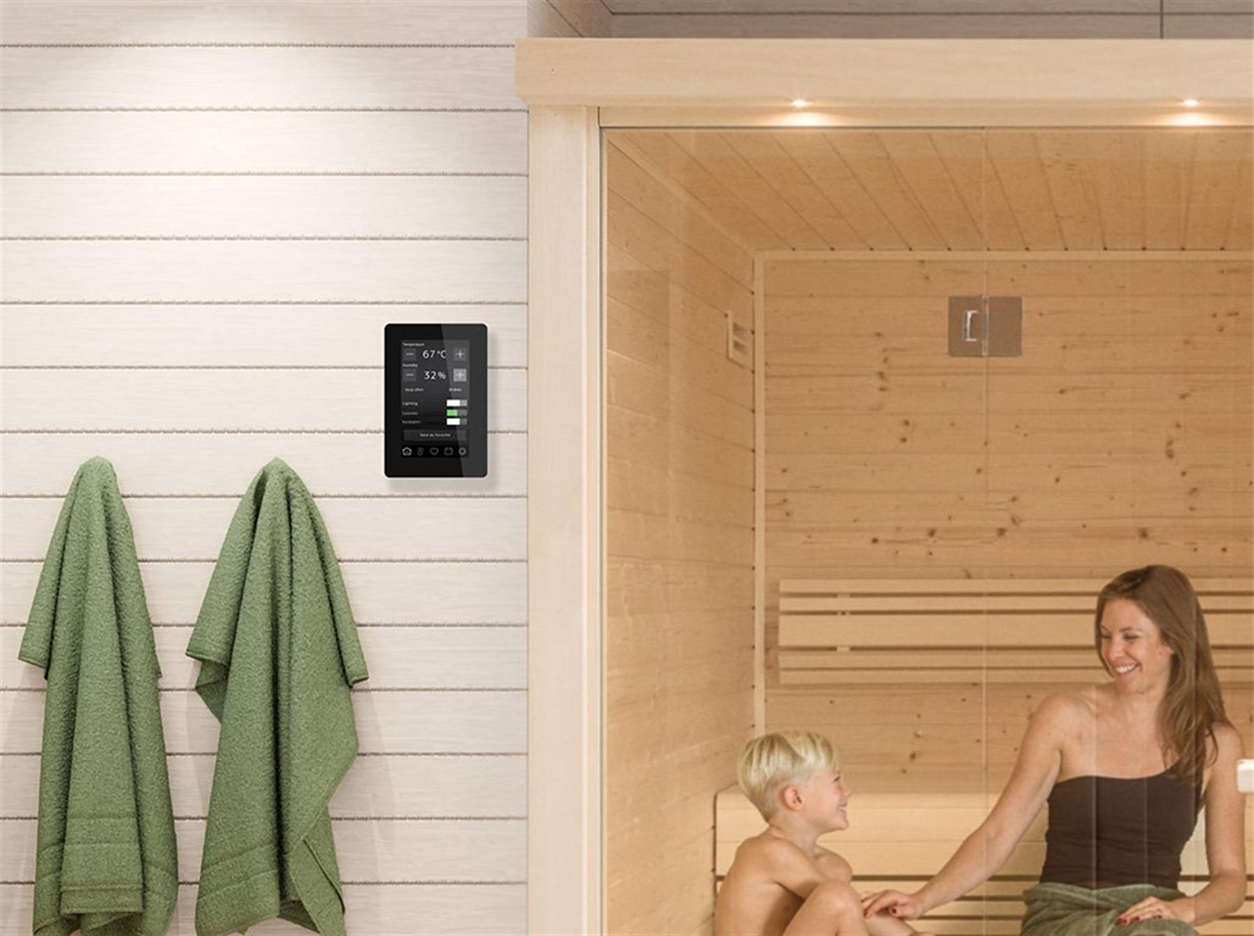 Tylo Elite badstuovn med styringspanel
